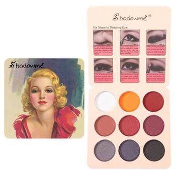 9 paleta kolorowych cieni do powiek kobiety oko makijaż cień do powiek paleta wodoodporny cienie do powiek tanie i dobre opinie CN (pochodzenie) Eyeshadow 1pcs A8288