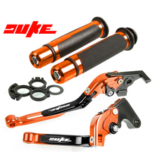 цена на For KTM Duke 125 200 390 Duke 2013 2014 2015 2016 2017 Motorcycle CNC Adjustable Brake Clutch Lever Handle Hand Grips Set