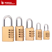 BOZZYS Padlock NEW for Room Suitcase Travel Mini Security Tool 4 Digits Number Pure Cooper Brass Combination Lock Password Lock
