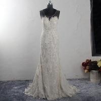 RSW1553 Scoop Neckline Sleeveless Illusion Neck Silver Beaded Appliques Lace Dress Reception Wedding Dress