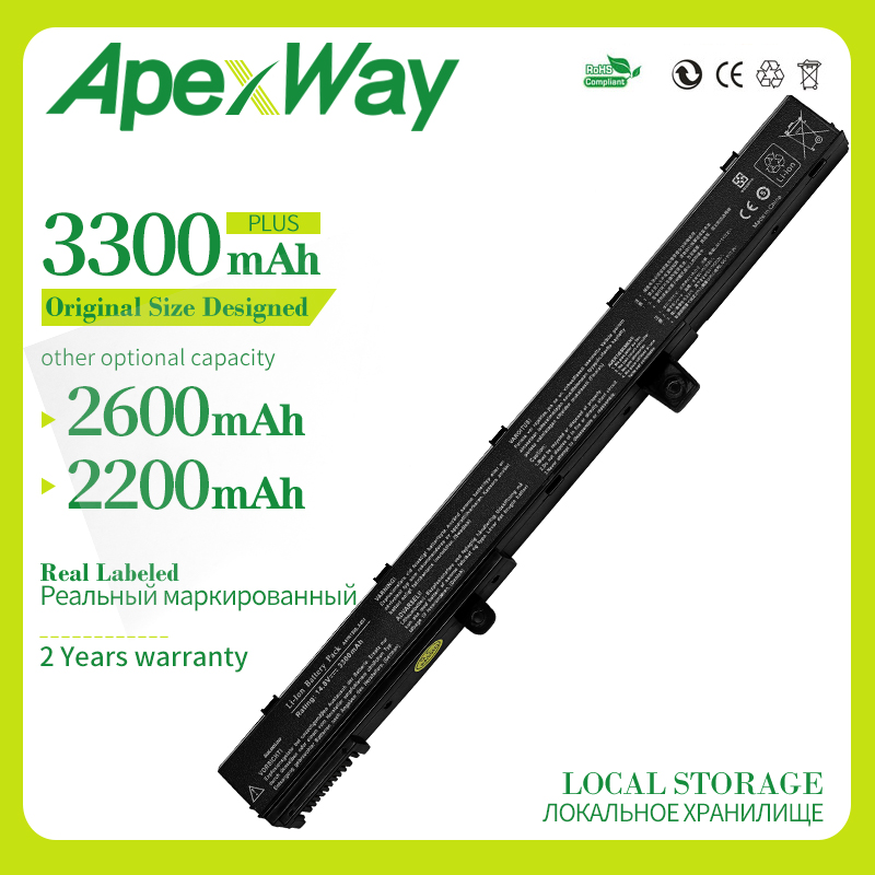 Apexway Laptop Battery For ASUS A41N1308 A31N1319 X551M X551C X451C X451CA X551CA 0B110-00250100