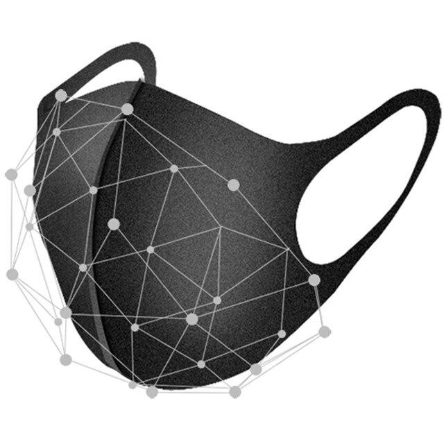 1/3/5/10 Pcs Black Mouth Mask Reusable Dust Mask Washable Mascarillas Face Shield Masque Foggy Haze Mask Mundschutz Unisex 2