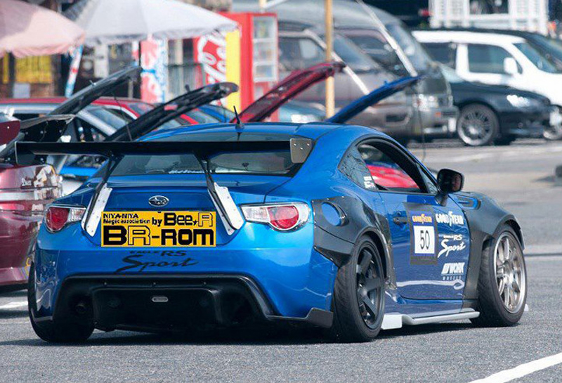 Car styling Unpainted black FRP Carbon Fiber Material GT Style GT86 BRZ Rear Trunk wing spoiler For Subaru BRZ Toyota 86 GT86 in Spoilers Wings from Automobiles Motorcycles