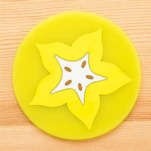 Image 4 - פירות Coaster צבעוני סיליקון משקאות מחזיק כוס מחצלת שולחן מפית מחצלת מכונית אוניברסלי אבזרים