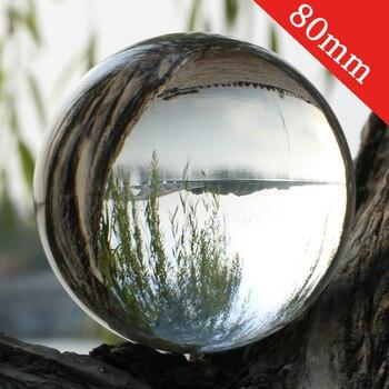 Super Clear K9 Kristall Glas Objektiv Ball 80mm Fotografie Lensball Große Divination Globus 8cm Große Magische Kugel Mit stehen Basis Tasche