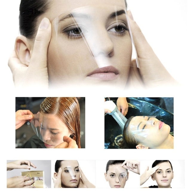 100/50pc Disposable Transparent Plastic Face Shield Hair Salon Hairspray Masks Cutting Coloring Face Protecting Barber Supplies