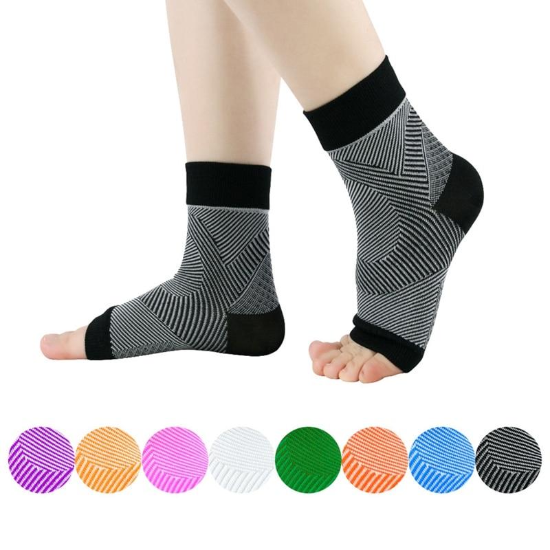 Compression Sleeve Thin Breathable Anti-sweat Socks Unisex Outdoor Sport Ankle Brace Protector Socks Protector Plantar Fasciitis