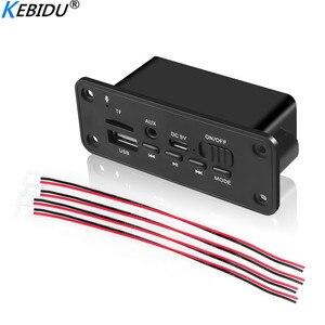Image 2 - Kebidu 2*3 Вт усилитель постоянного тока 5 в MP3 WMA беспроводной Bluetooth 5,0 декодер плата аудио модуль USB FM TF запись радио AUX вход для автомобиля