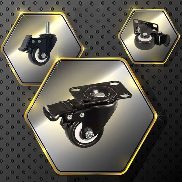 Купить 4 шт сверхмощные плоские нижние колесики с тормозной поворотной картинки цена