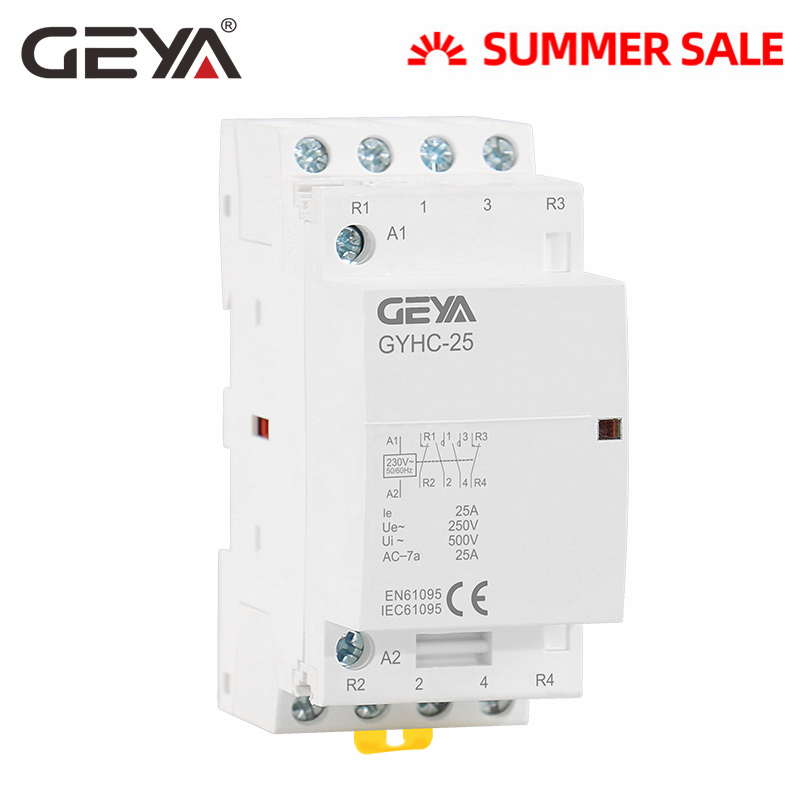 BCH8-16M 230V 4P 16A Din Rail Household AC Contactor with Manual ...