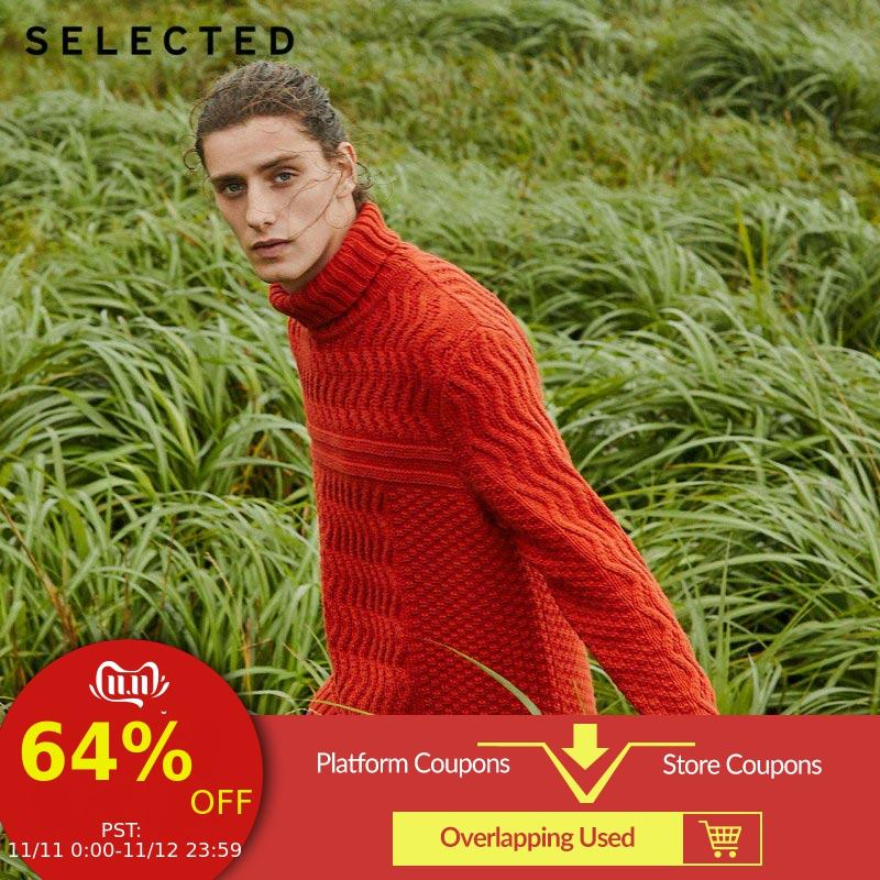SELECTED Men's Autumn & Winter High-necked Woolen Knitted Sweater L|419424551