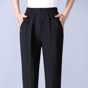 Image 4 - Autumn Winter Middl Aged Women Warm Velvet Elastic Waist Casual Straight Pants Female Trousers Plus Size Clothing
