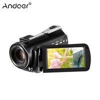 Andoer AC5 4K UHD 24MP Digital Video Camera 3.1 IPS Touchscreen 12X Optical Zoom Time Lapse Face Detection Anti shake Camcorder