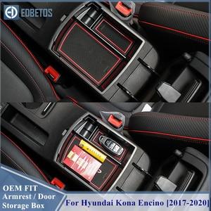 Image 1 - EDBETOS Kona schowek w podłokietniku dla Hyundai Kona Encino 2017 2018 2019 2020 Kona konsola środkowa pojemnik taca akcesoria