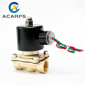 цена на 1/8 1/4 1/2 1 2 inch Normally Closed Brass Solenoid Valve 220VAC 110VAC 24VDC 12VDC 24VAC Direct Acting For Water Gas Oil