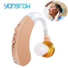 Yongrow aparat słuchowy wzmacniacz głosu aparaty słuchowe zauszny regulowana opieka zdrowotna