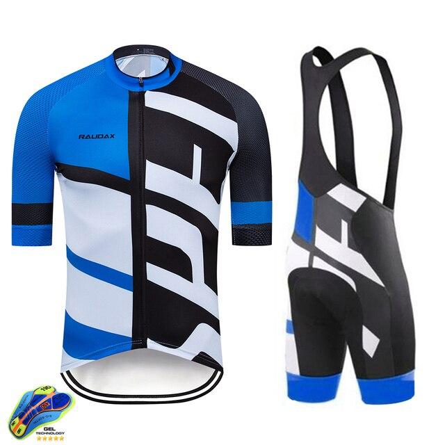 Terno de ciclismo masculino, camiseta de manga curta para mtb, com moletom, respirável, para o verão, roupa de ciclismo 19d, novo, 2020 3