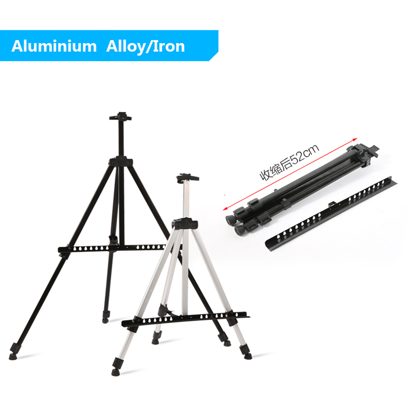1pc Easel Aluminium  Alloy Folding Painting Easel Frame Artist Adjustable Tripod Display Shelf With Carry Bag Outdoors Studio