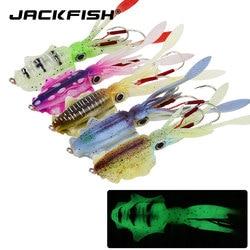 JACKFISH 20G/60G Glow Fishing miękka przynęta ośmiornica Calamar pesca mar sea fishing wobbler przynęta przynęta na kalmary przynęty silikonowe przynęty w Przynęty od Sport i rozrywka na