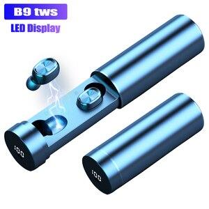 Image 1 - B9 TWS אלחוטי אוזניות אוזניות 8D HIFI Bluetooth 5.0 ספורט מיקרופון אוזניות LED תצוגת משחקי מוסיקה אוזניות עבור טלפונים