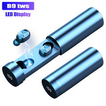 B9 TWS Wireless Earphone Headphones 8D HIFI Bluetooth 5.0 Sport MIC Earbuds LED
