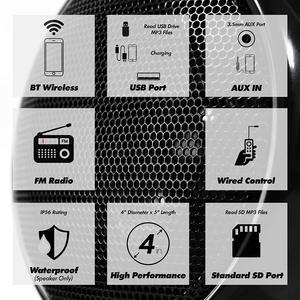 Image 3 - Aileap 1000 Вт мотоцикл аудио 4CH усилитель лодка Колонки Системы, поддержка Bluetooth, USB, AUX, FM радио, SD карты, проводное управление