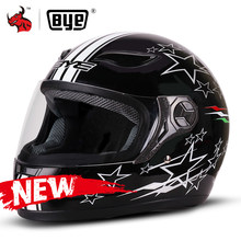 BYE Moto casque hommes Chopper Scooter Cruiser casque intégral Touring Moto casque hommes femmes course rue Moto Casco(China)
