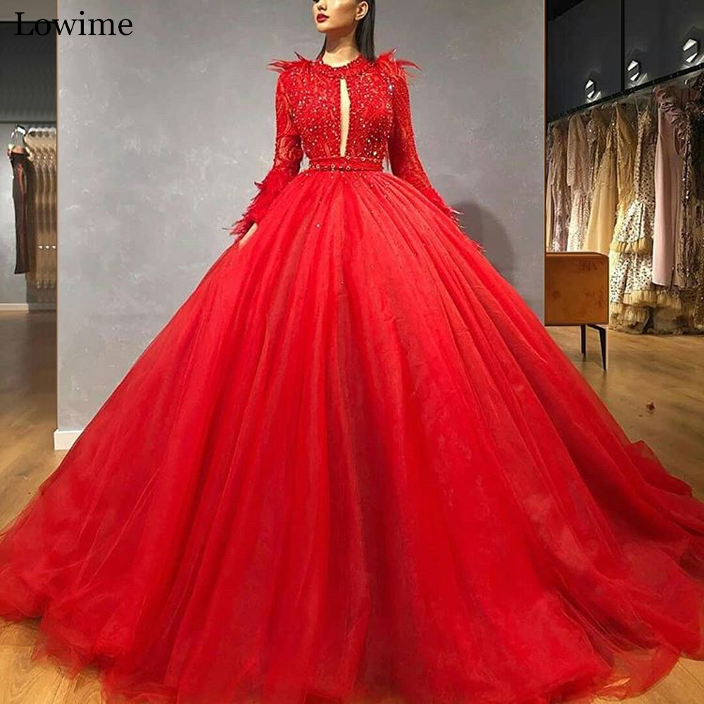 2020 Heavy Handmade Red Celebrity Dress Feathers Beading Special Occasion Gowns Red Carpet Dress вечернее платье Robe De Soiree