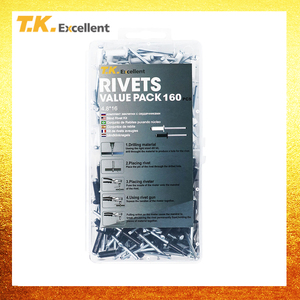 Image 2 - T.K.Excellent Rivets Screw Tools Home Decoration Fastener Pop Rivets Metalworking Rivets Aluminium 4.8*16 Black and White 160Pcs