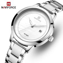 NAVIFORCE Simple Women Watches Lady Girl Quartz Watch Waterproof Wristwatch Casual Fashion Male Clock Female Reloj Mujer цена