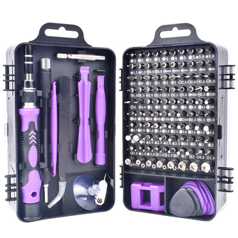 115 in 1 screwdriver set screwdriver bit set multi-function precision mobile phone repair equipment manual tool Torx hexagon