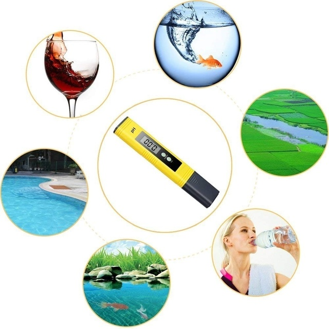 Oauee Digital LCD PH Meter Pen of Tester Accuracy 0.01 Aquarium Pool Water Wine Urine Automatic Calibration 4