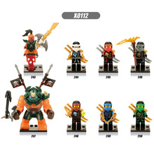 8pcs Set Super Heroes Pythor Jay Lloyd Kozu Kai Cole Zane The Wei Snake Bricks Figure Building Blocks Toys For Children цена