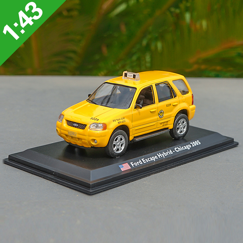 1:43 High Meticulous FORD CHICAGO TAXI Alloy Model Car Static Metal Model Vehicles