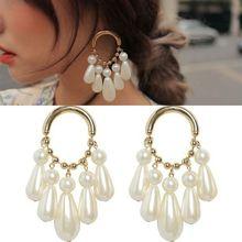 2019 Hot fashion elegant drop long earrings female simulation pearl earrings fashion jewelry jewelry