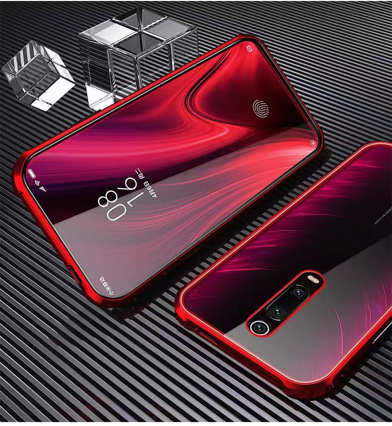 360 Protective Magnetic Double-Side Tempered Glass Phone Cases For Xiaomi CC9 8 9 K20 K20 PRO Anti-peep Cover Redmi Note 7