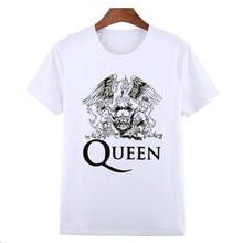 Asian Size FREDDIE MERCURY Heavy Rock top 100 Band Queen T T-shirt Short sleeve O-Neck Tshirt For Men man HCP627