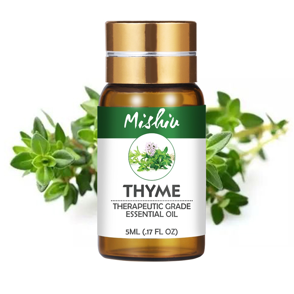 Mishiu Thyme Essential Oil 100% Pure Water-soluble Aromatic Aroma Humidifier Aromatherapy Oils Natural Home Air Care 5ML