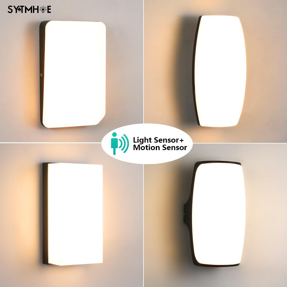 24W Dusk To Dawn Sensor Front Porch Light IP65 Waterproof Exterior Outdoor Wall Light Motion Sensor Terrace Led Balcony Light