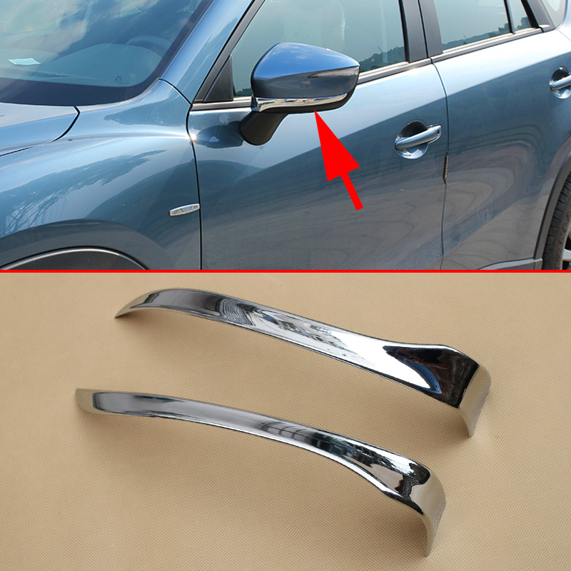 Chrome Parts Fit For <font><b>Mazda</b></font> CX-3 Rearview Rear View Mirror Cover Trim Frame Decoration <font><b>Accessories</b></font> 2016 2017 2018 2019 image