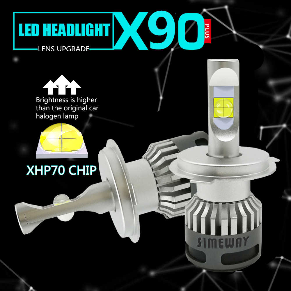 2PCS H4 hi/lo Led H8 H9 H11 HB3 hb4 Fog Lamp Car Headlight Bulbs xhp70 chip led H1 110W H7 D1S D2S 9004 9007 Auto bulb 12V 6000K