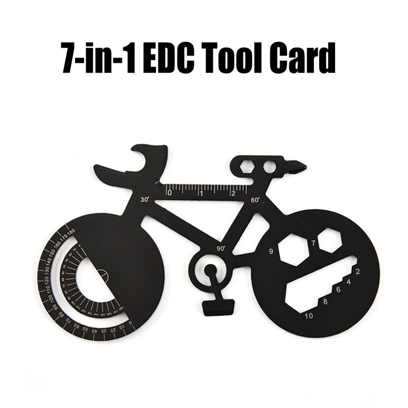 Outdoor Multi-purpose Bicycle Repair Spoke Wrench Funny Bicycle Shape Wrench Mountain Bike Repair Tool Card Tool