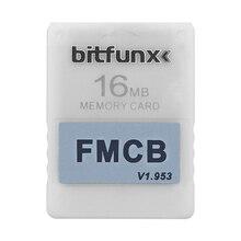 لعبة بطاقة الذاكرة الذاكرة لعبة ببطاقات ورقية كونسولاس اكسسوارات لسوني PS2 بلاي ستيشن 2 FMCB McBoot الحرة MC التمهيد v1.953