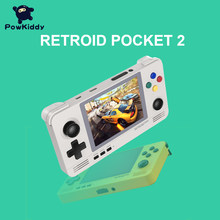 POWKIDDY Retroid Pocket 2 Console tascabile per giochi retrò schermo IPS da 3.5 pollici Android e Pandora Dual System Switching giochi 3D
