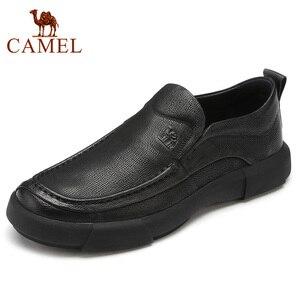 Image 1 - Nuevos zapatos informales de negocios, zapatos ligeros para hombre, mocasines de cuero cómodos antideslizantes con absorción de impacto para hombre