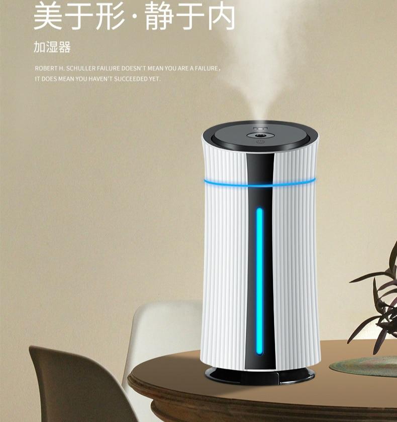 1100ML USB Portable Air Humidifier Aroma Oil Diffuser Atomizer Ultrasonic Humidificador Aromatherapy Capacity Car Home Baby