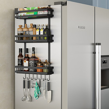 Multifunctional Refrigerator Rack Side Storage Rack Kitchen Spice Rack Wall-mounted Rack Kitchen Accessories Organizer movable crevice rack bathroom rack wheeled refrigerator crevice kitchen storage rack