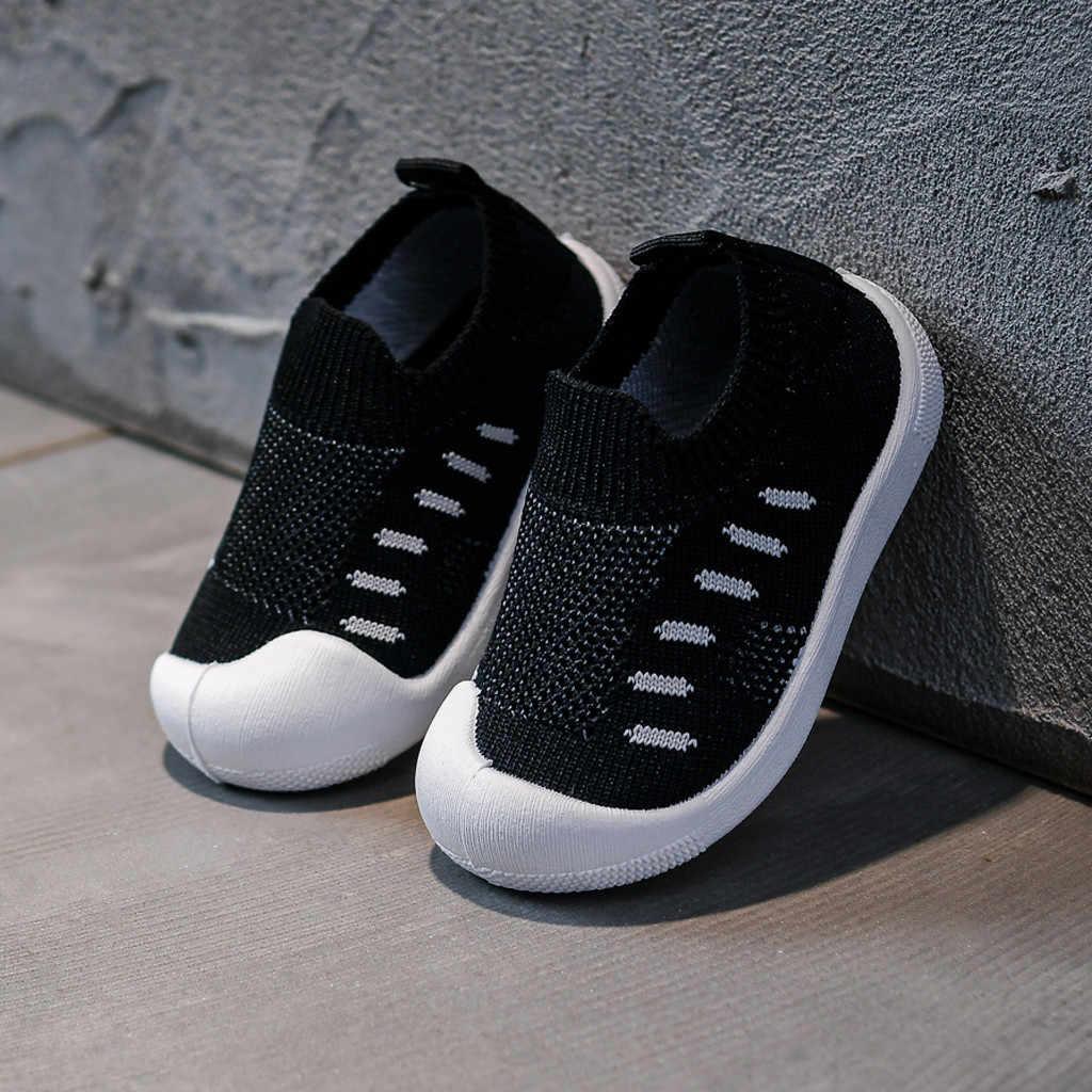 Toddler Bebek Çocuk Ayakkabı Bebek Kız Erkek Ayakkabı Şeker Renk Örgü Spor Koşu rahat ayakkabılar Erkek Çocuklar Spor Ayakkabı Tenis Infantil
