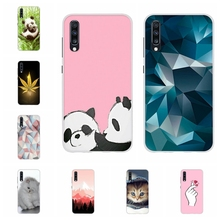 For Samsung Galaxy A10 A40 Case Soft Silicone A20 A30 Cover Animal Patterned A50 A70 Funda