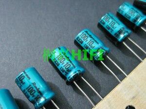 Image 1 - 20PCS NEW RUBYCON RX30 100V10UF 8X11.5MM Electrolytic Capacitor rx30 10uF/100V 130 degrees 10UF 100V